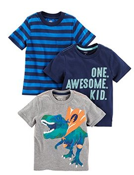 Simple Joys By Carter's Boys' Toddler 3 Pack Short Sleeve Graphic Tees by Simple+Joys+By+Carter27s