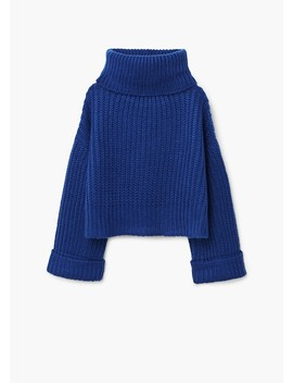 Pull Over Oversize Col Roulé by Mango