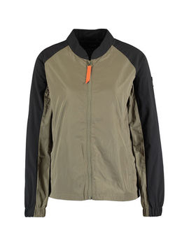 Black & Khaki Bomber Jacket by Gertrude Gaston
