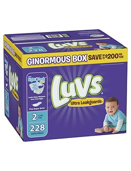 Luvs Ultra Leakguards Disposable Diapers, Size 2, 228 Count, One Month Supply by Luvs