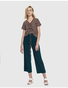 Jilli Stripe Shirred Tee by Which We Want