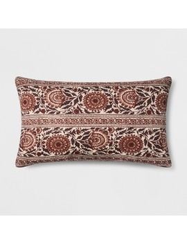 Floral Oversized Lumbar Throw Pillow Berry   Threshold™ by Threshold™