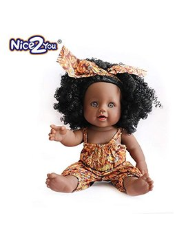 Nice2 You Black Girl Dolls Fashion African American Doll Lifelike 12 Inch Baby Play Dolls For Kids Perfect For Gift by Nice2you