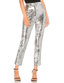 Sequins High Waist Skinny Pant by Milly