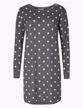 Cotton Rich Star Print Nightdress by Tracked Express Delivery: