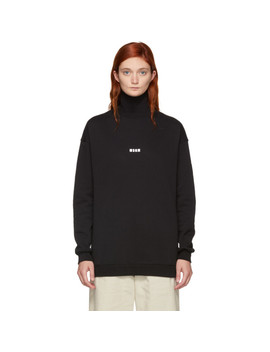 Black Mini Logo Turtleneck by Msgm