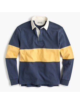 Unisex 1984 Rugby Shirt In Single Stripe by J.Crew