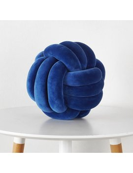 Mainstays Medium Decorative Infinity Knot Pillow Stadium, Blue, Multiple Colors by Mainstays