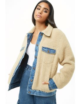 Denim & Faux Shearling Reversible Jacket by Forever 21