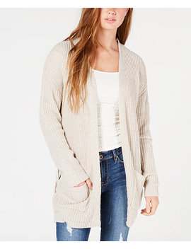 Juniors' Long Knit Cardigan by Hooked Up By Iot