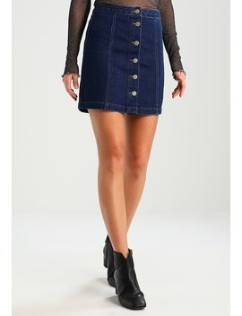 Button Through   Jeansrock by New Look