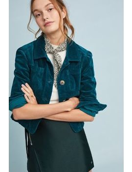 Cropped Corduroy Jacket by Anthropologie