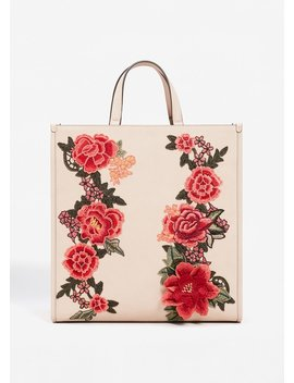 Floral Embroidery Shopper Bag by Mango