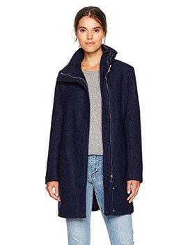Calvin Klein Women's Asymmetrical Boucle Wool Coat, by Calvin+Klein