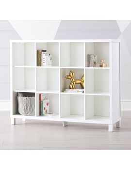 White 12 Cube Bookcase by Crate&Barrel
