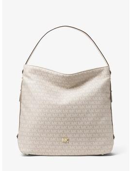 Griffin Large Logo Jacquard Shoulder Bag by Michael Michael Kors