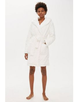 Faux Fur Fluffy Dressing Gown by Topshop