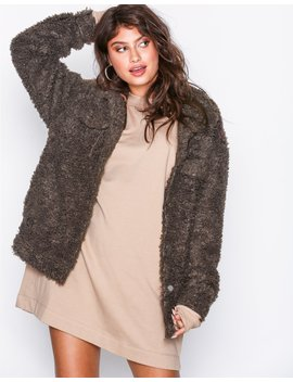 Oversized Teddy Trucker by Missguided