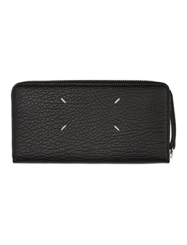 Black Long Grained Wallet by Maison Margiela