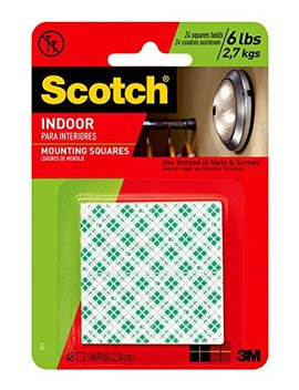 3m-scotch-311dc-heavy-duty-1-inch-mounting-squares,-48-squares by 3m