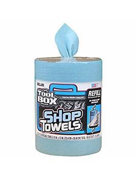 """Sellars Wipers & Sorbents 55207 Blue Toolbox Z400 Big Grip Refill Blue Shop Towels, 2493114, 10"""" X 12"""", 200 Sheets Per Roll, 6 Rolls Per Case by Sellars Wipers & Sorbents"""