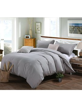 Rural Dandelion Luxury Duvet Cover Bedding Set   Hotel Quality, Comfortable, Breathable And Soft  3 Piece, Full/Queen, Gray by Rural Dandelion