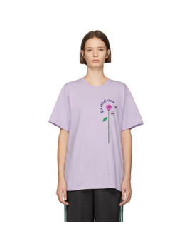 Purple 'earth Crisis' T Shirt by Noah Nyc