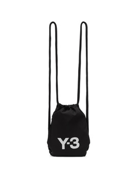 Black Mini Gym Backpack by Y 3