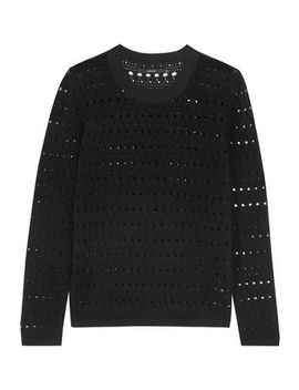 Colony Pointelle Knit Cotton And Cashmere Blend Sweater by J Brand