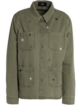 Embroidered Cotton Gabardine Jacket by Line