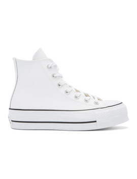 White Chuck Taylor All Star Lift High Top Sneakers by Converse