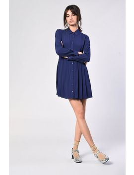**Button Front Shirt Dress By Glamorous Petite by Topshop