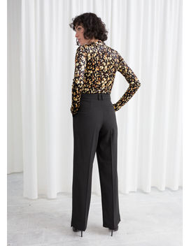 Tailored Wool Blend Trousers by & Other Stories