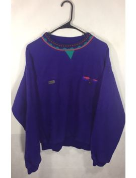 Size Medium Vintage 90's Columbia Sportswear Purple Aztec Pull Over Sweatshirt by Columbia