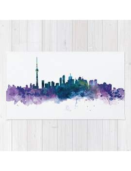 Toronto Skyline Rug by