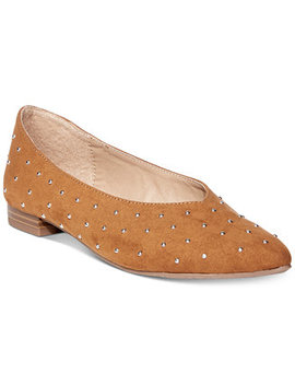 Danika Pointed Toe Slip On Flats by Esprit