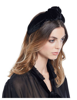 Ophelia Velvet Knotted Headband by Jennifer Behr