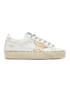 White Hi Star Sneakers by Golden Goose