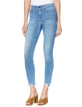 Transcend Vintage   Hoxton High Waist Ripped Crop Skinny Jeans by Paige