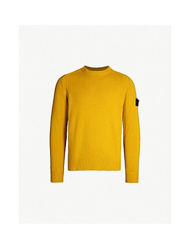 Logo Patch Lambswool Jumper by Stone Island