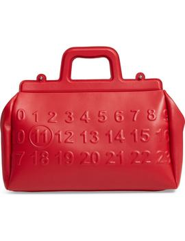 Logo Leather Satchel by Maison Margiela