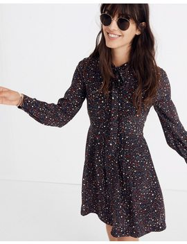Balsam Tie Neck Dress In Starry Night by Madewell