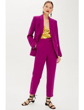 Magenta Suit Trousers by Topshop