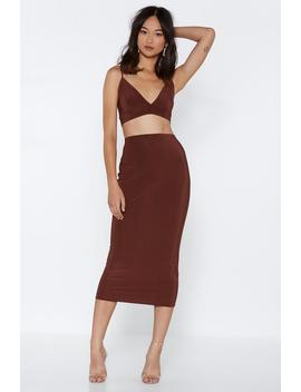 If You Can't Beat 'em Bra Top And Skirt Set by Nasty Gal