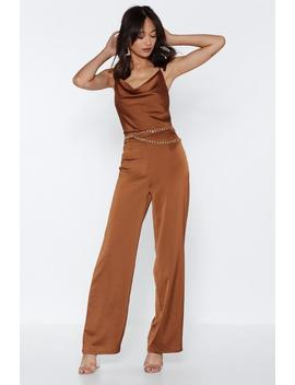 Wide Here Satin Pants by Nasty Gal