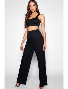 Tall Woven Wide Leg Trousers by Boohoo
