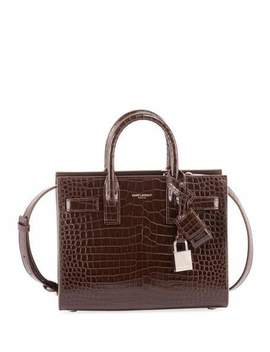 Nano Sac De Jour Croco Effect Satchel Bag by Saint Laurent