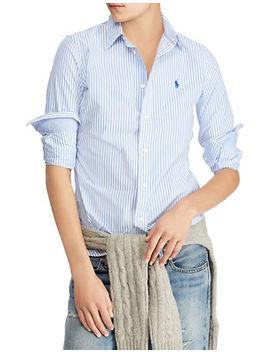 Striped Stretch Cotton Button Down Shirt by Polo Ralph Lauren