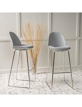 Lisben Modern Bar Stool Chair Set Two (Grey) by Great Deal Furniture