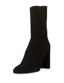 Clinger Stretch Suede Bootie by Neiman Marcus
